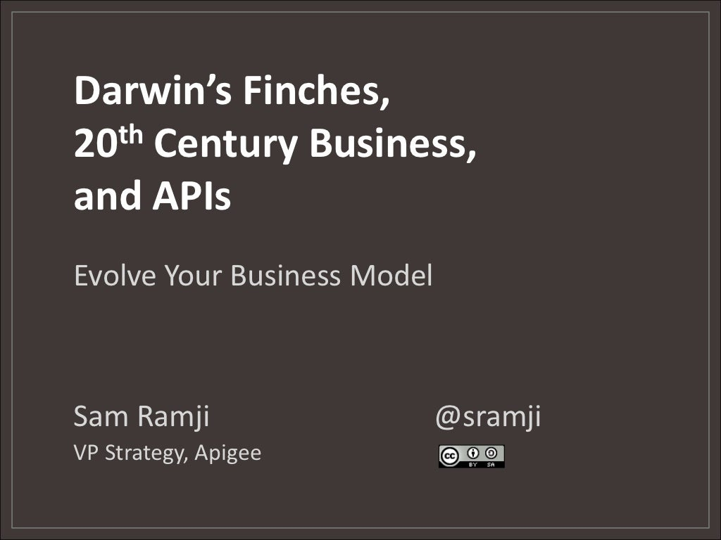 Darwin's Finches, 20th Century Business, and APIs