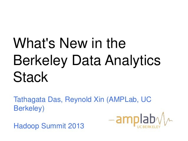 What's New in the Berkeley Data Analytics Stack