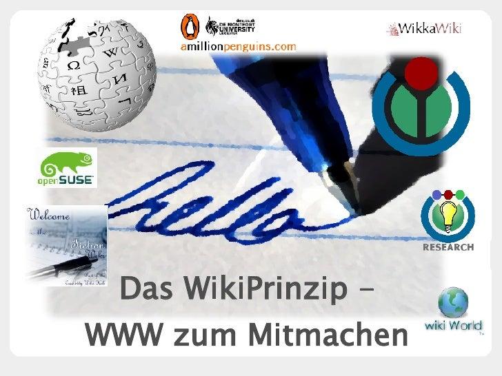 Das WikiPrinzip - WWW zum Mitmachen