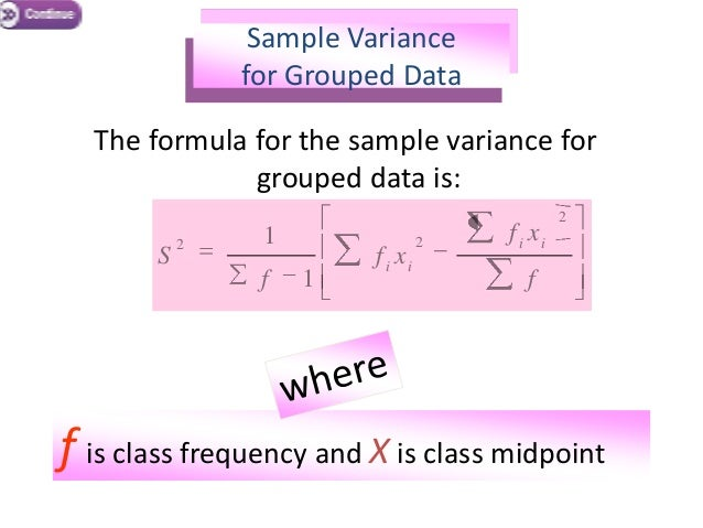 Sample Variance Formula