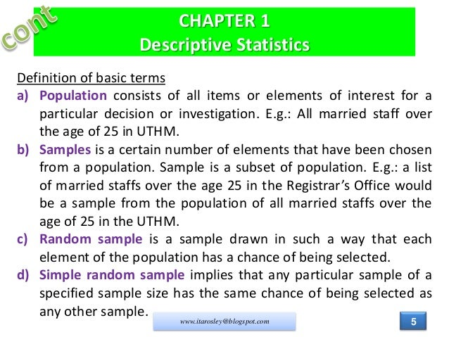 what is statistics chapter 1 Chapter 8 ~ introduction to statistical inferences s = z(a/2) e n chapter goals learn the basic concepts of estimation and hypothesis testing 81 ~ the nature of.