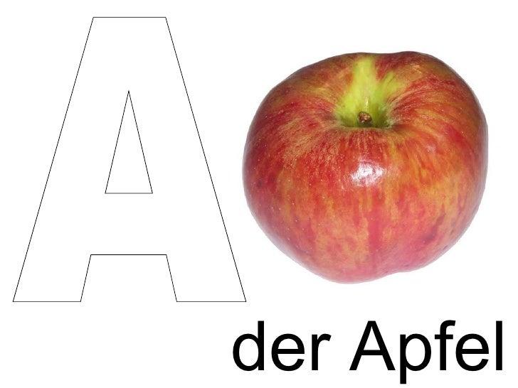 der Apfel A