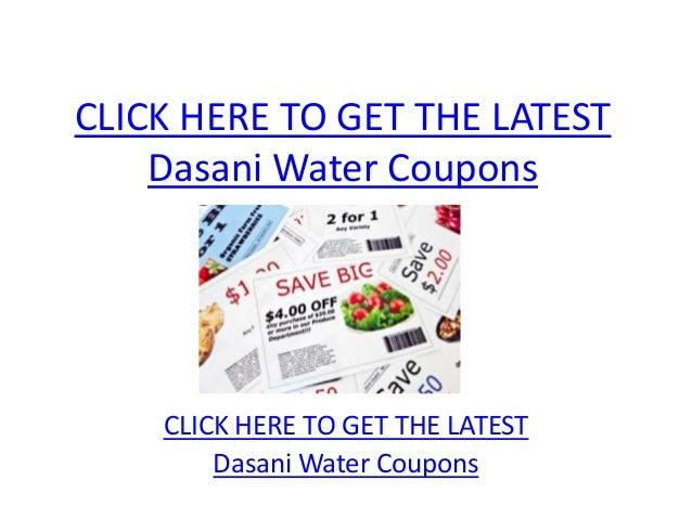 Dasani Water Coupons - Printable Dasani Water Coupons