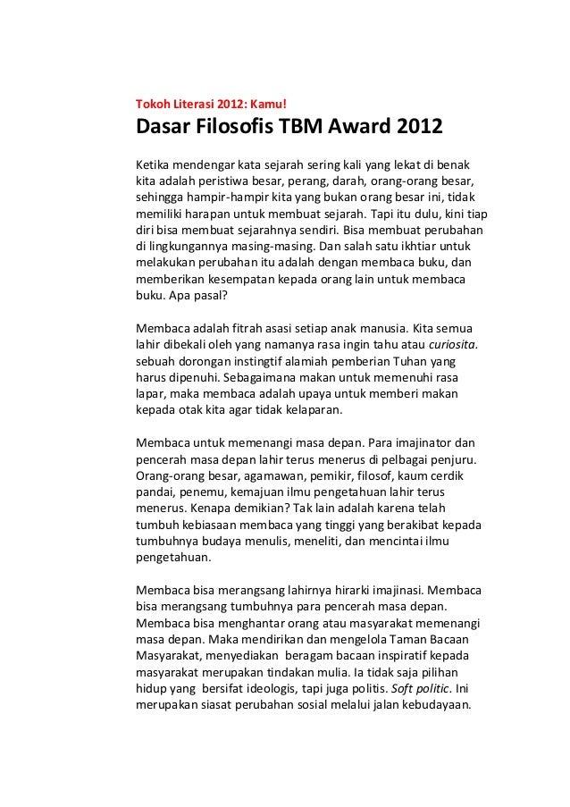 Dasar Filosofis TBM Award