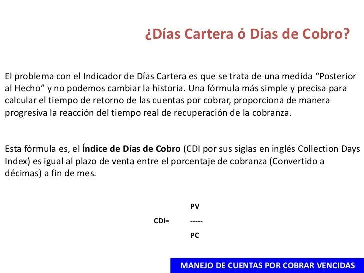 DíAs Cartera ó DíAs De Cobro