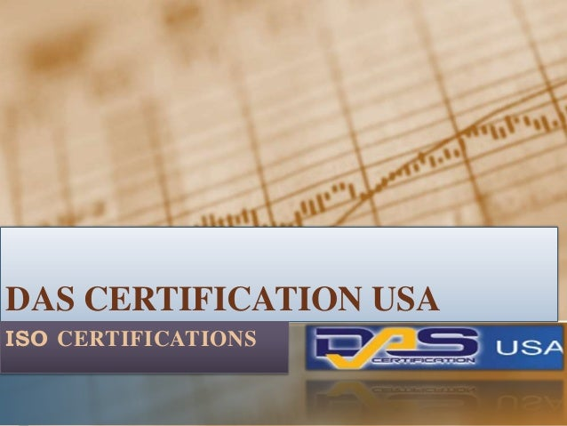 DAS CERTIFICATION USA ISO CERTIFICATIONS