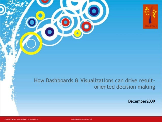 How Dashboards & Visualizations can drive resultoriented decision making December2009  CONFIDENTIAL: For limited circulati...