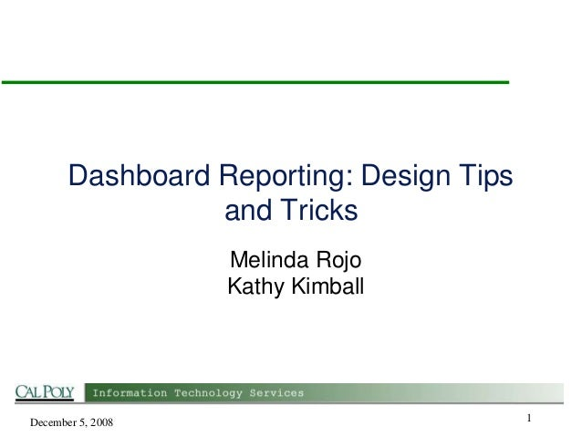 Dashboard reporting in easy