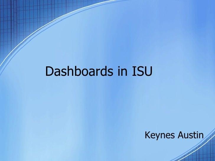 Dashboards In ISU