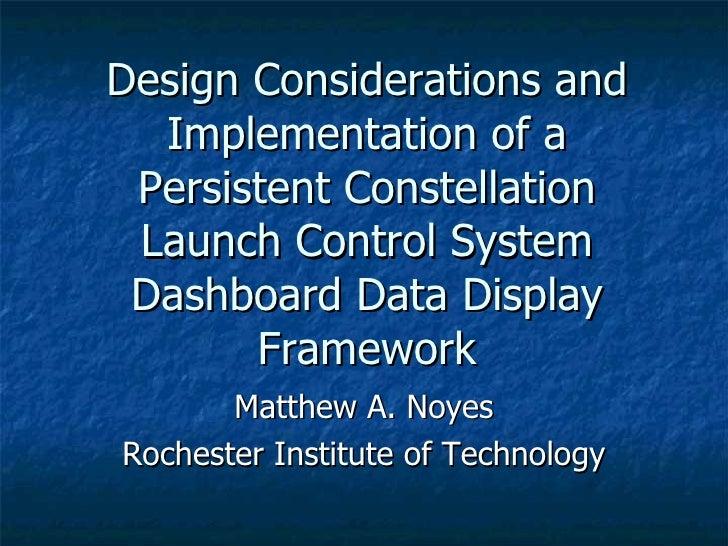 Dashboard Technical Presentation