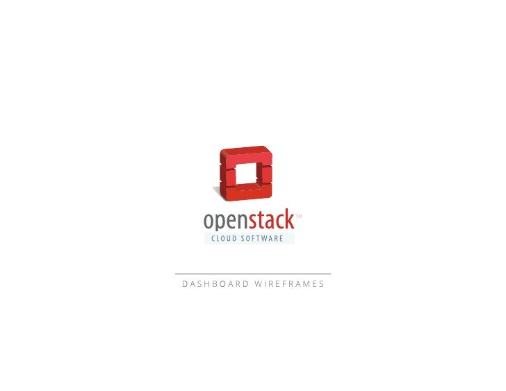 Openstack Dashboard Wireframes 20110928