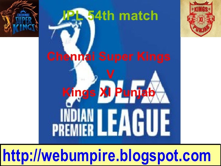 final league match for KXI and CSK in IPL 2009