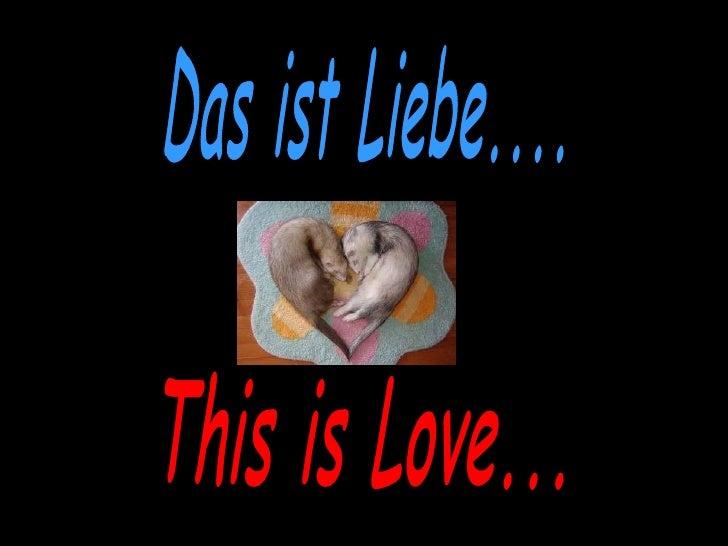 Das ist Liebe.... This is Love...