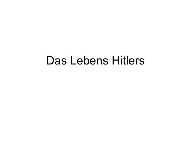 Das Lebens Hitlers