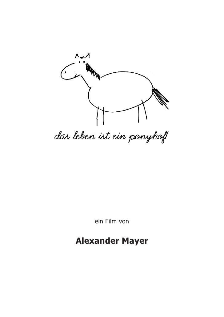 ein Film von   Alexander Mayer