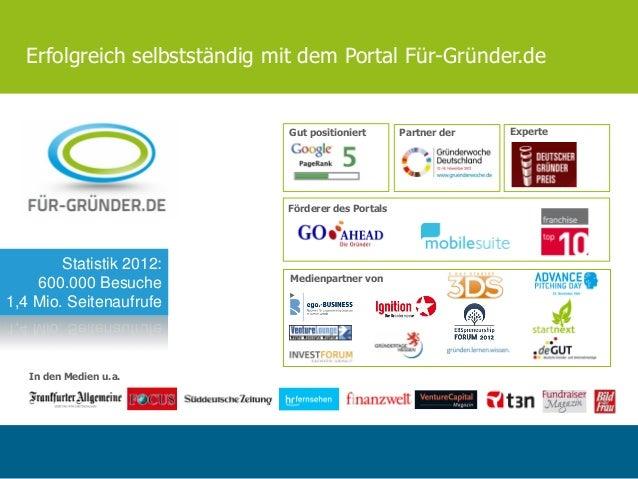 Das Portal für gründer.de januar 2013