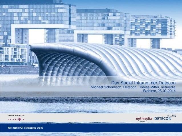 Das Social Intranet der Detecon International GmbH