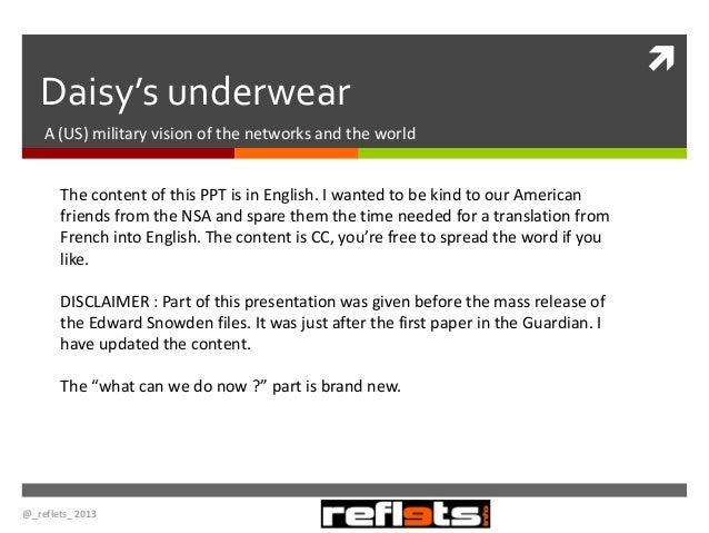 Daisy's underwear & Massive data capture in europe