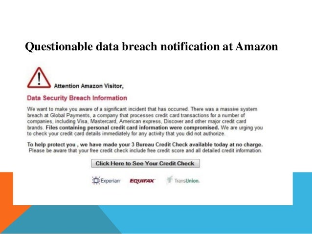 Questionable data breach notification at Amazon
