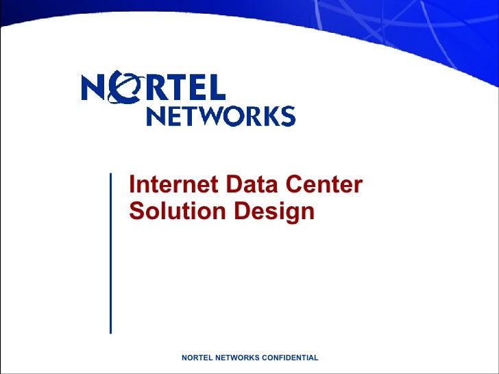 Internet Data Center Solution Design
