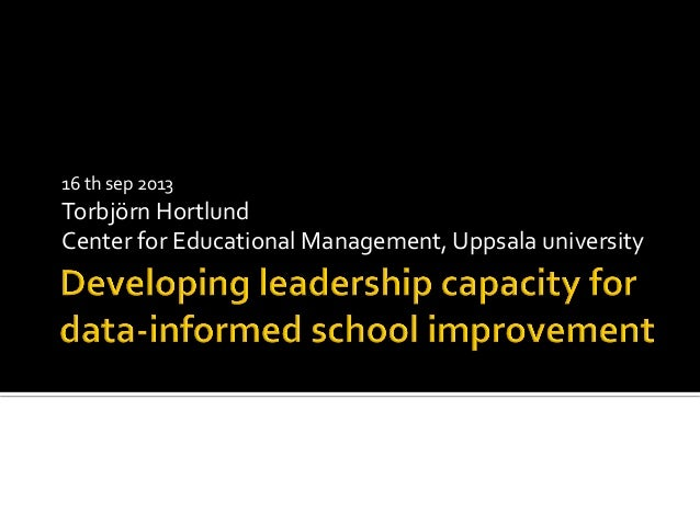 Data informed leadership hortlund