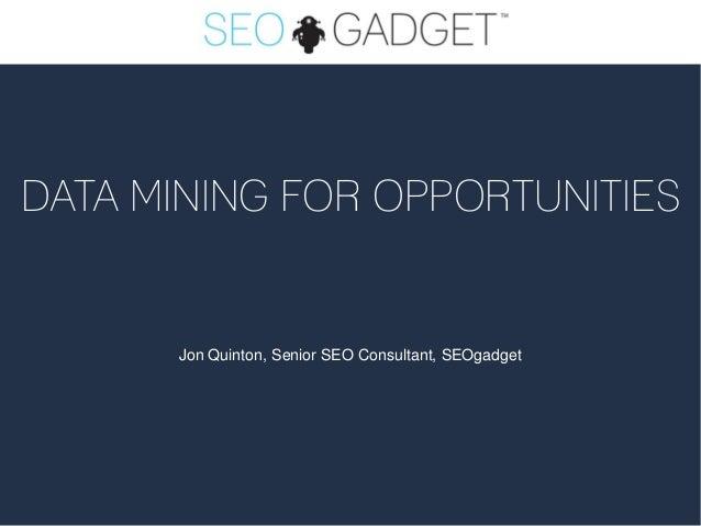 Data Mining for Revenue