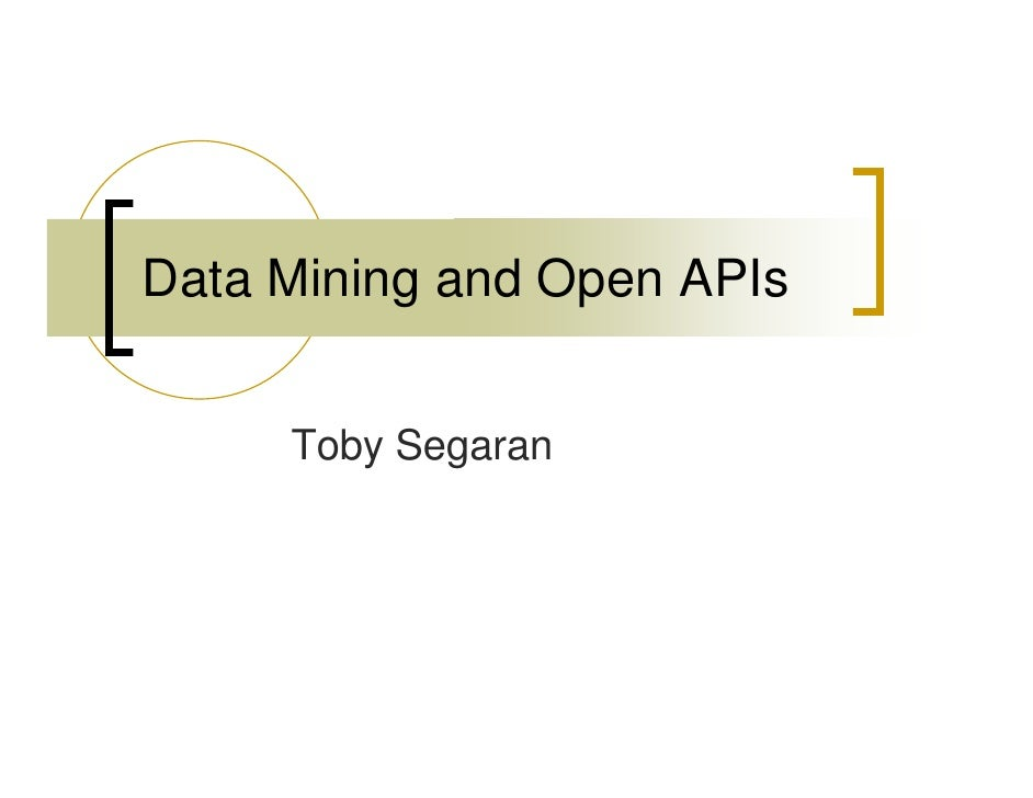 Data Mining Open Ap Is
