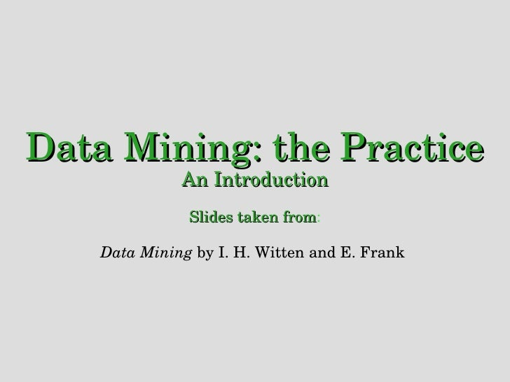 Data Mining: Practical Machine Learning Tools and Techniques ...
