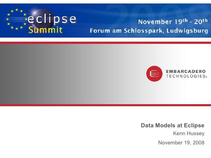 Data Models at Eclipse