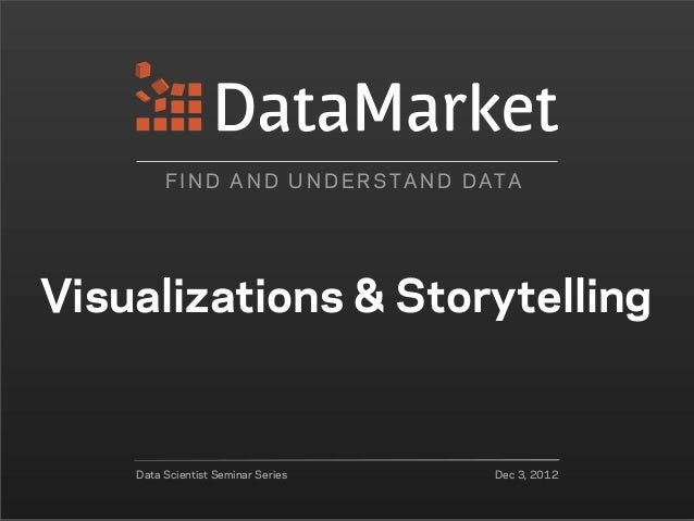 F I N D A N D U N D E R S TA N D D ATAVisualizations & Storytelling    Data Scientist Seminar Series           Dec 3, 2012