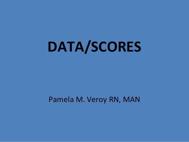 DATA/SCORES Pamela M. Veroy RN, MAN
