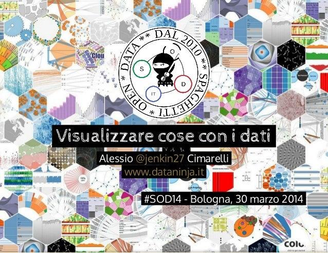 Visualizzarecoseconidati Alessio Cimarelli@jenkin27  www.dataninja.it #SOD14-Bologna,30marzo2014