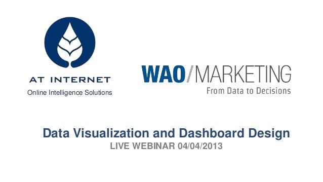 Online Intelligence Solutions  Data Visualization and Dashboard Design LIVE WEBINAR 04/04/2013
