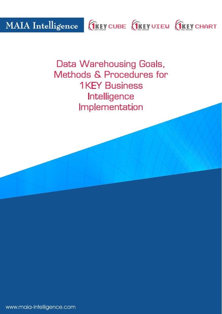 MAIA Intelligence           CUBE     VIEW   CHART                     Data Warehousing Goals,                  Methods & P...