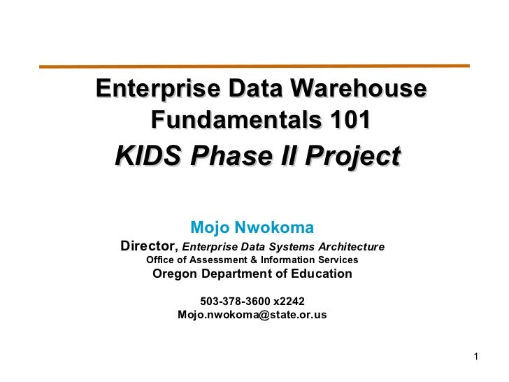 Data warehouse 101-fundamentals-