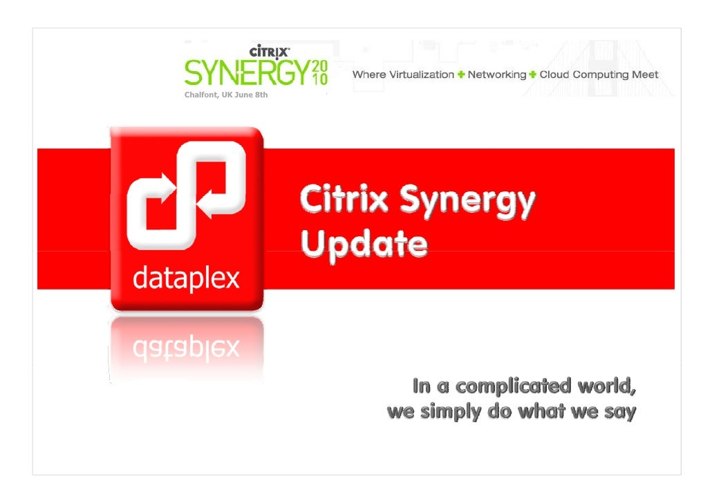 Citrix synergy updates 2010
