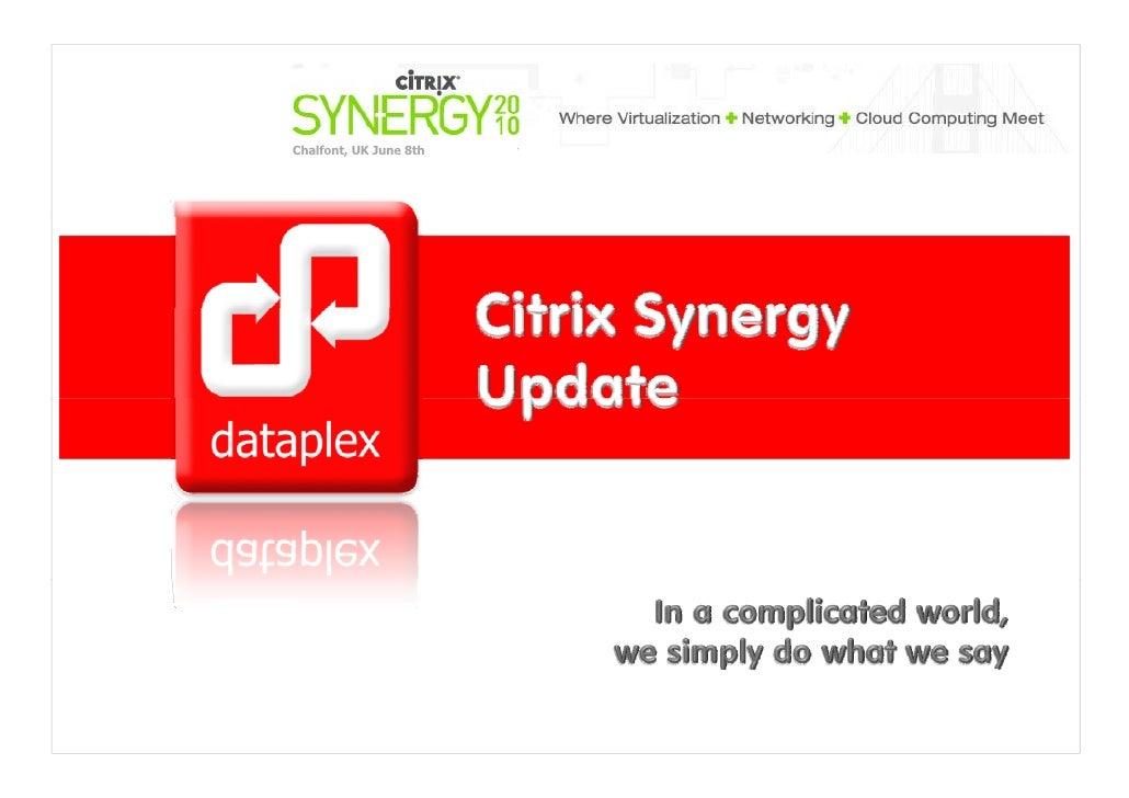 Citrix synergy updates 2010