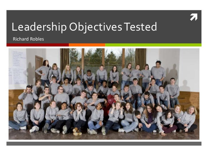Leadership objectives in use