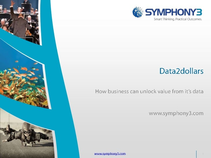 Data2dollars<br />How business can unlock value from it's data<br />www.symphony3.com<br />www.symphony3.com<br />1<br />