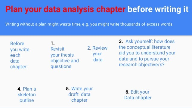Data analysis of dissertation