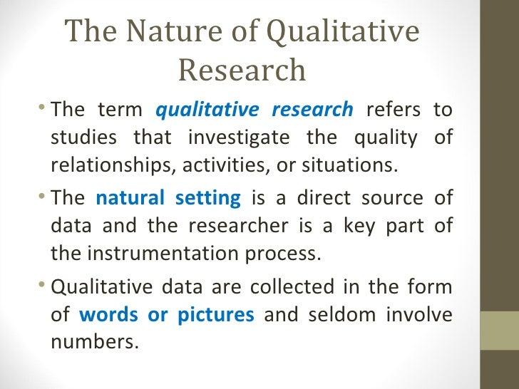 the nature of qualitative studies