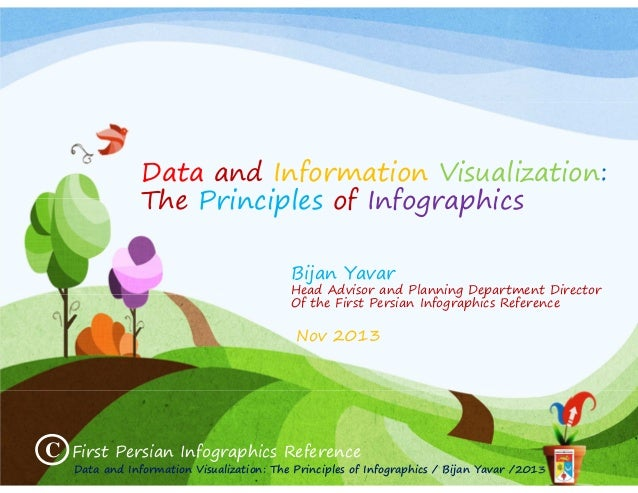 Data and Information Visualization: The Principles of Infographics Bijan Yavar  Head Advisor and Planning Department Direc...