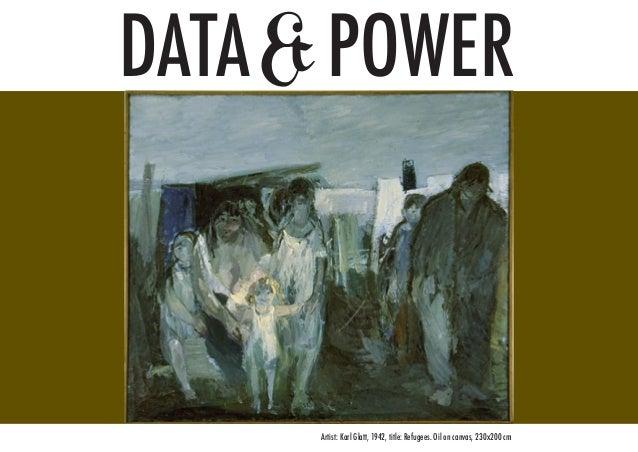 DATA& POWER Artist: Karl Glatt, 1942, title: Refugees. Oil on canvas, 230x200 cm