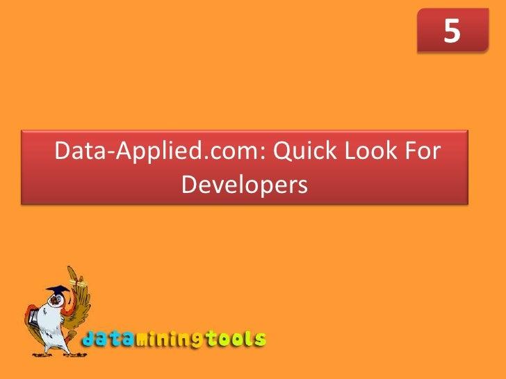 Data Applied: Developer Quicklook