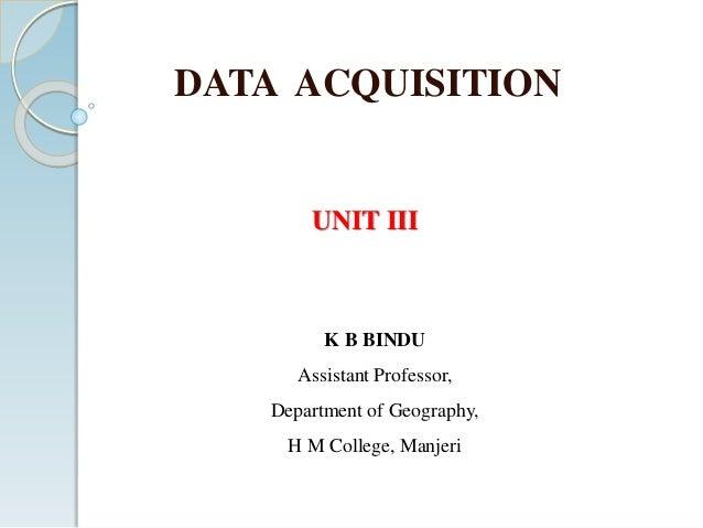 Data Acquisition Unit : Data aquisition unit iii final