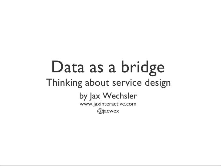 Thinking about Service Design