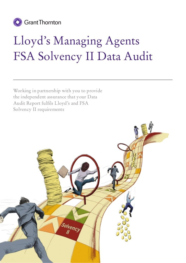 Lloyd's Managing AgentsFSA Solvency II Data AuditWorking in partnership with you to providethe independent assurance that ...