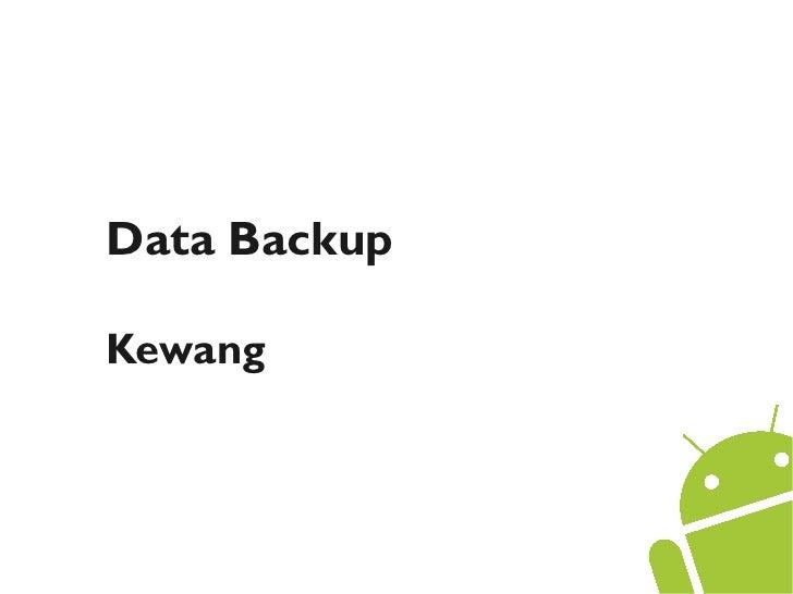 Data BackupKewang