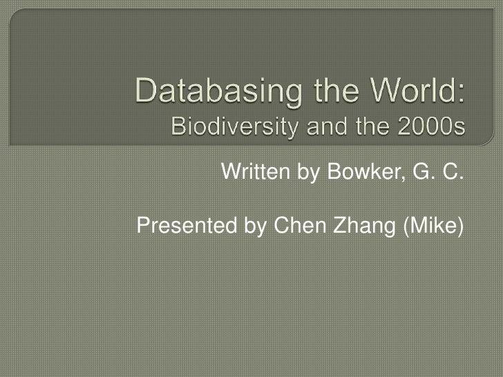 Databasing the world