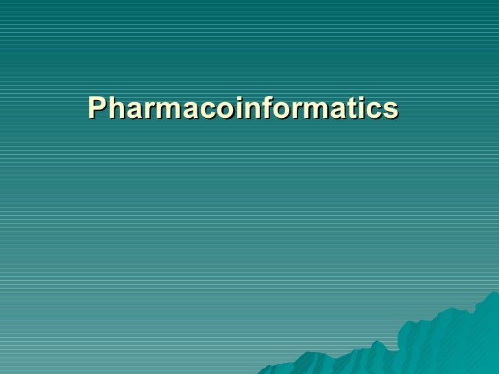 Pharmacoinformatics Database basics(sree)